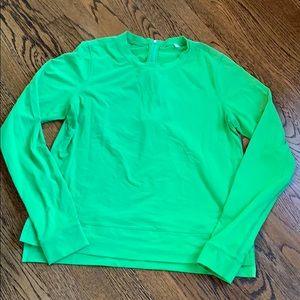 Lululemon zipback top, antireflective zippier, 8